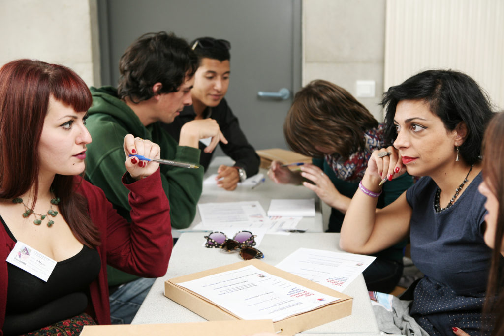 Réunion des jeunes du Secours populaire à Nîmes octobre 2014